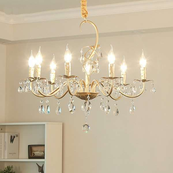 Iron Art Restaurant,Study/ Bedroom Spray Paint Frosted American Country Chandelier,8 Lights