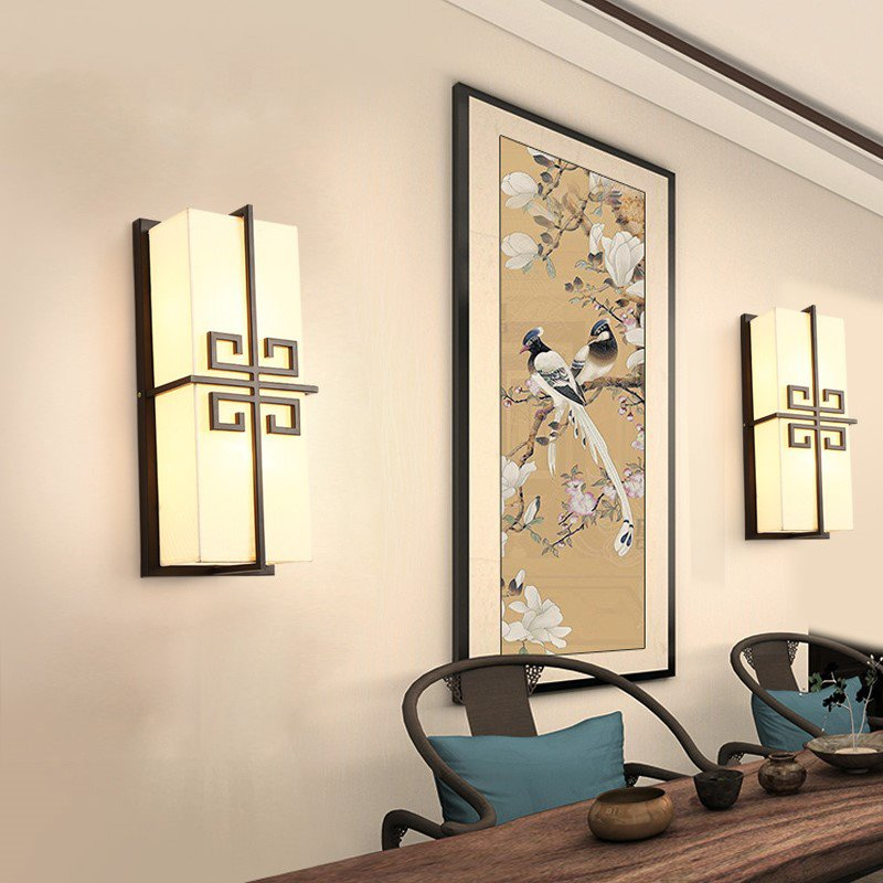Iron Art,Cloth Living Room,Villa/ Forging New Chinese Wall Lamp In Hotel Lobby, Single Head