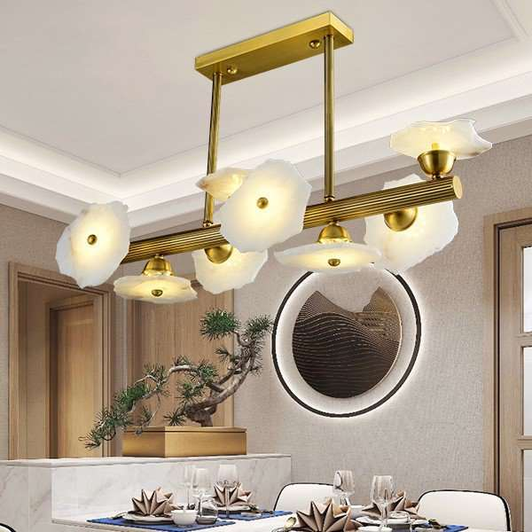 Marble,Copper Study Room/ Bedroom,Restaurant Carving Art Personality Chandelier,8 Lights