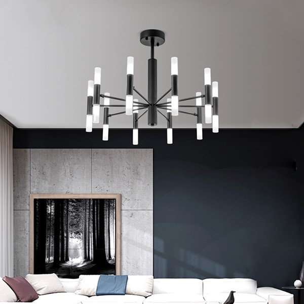 Iron Art,Acrylic Villa/ The Hotel Lobby,Restaurant,Living Room Spray Paint Frosted Postmodern Chandelier,20 Lights