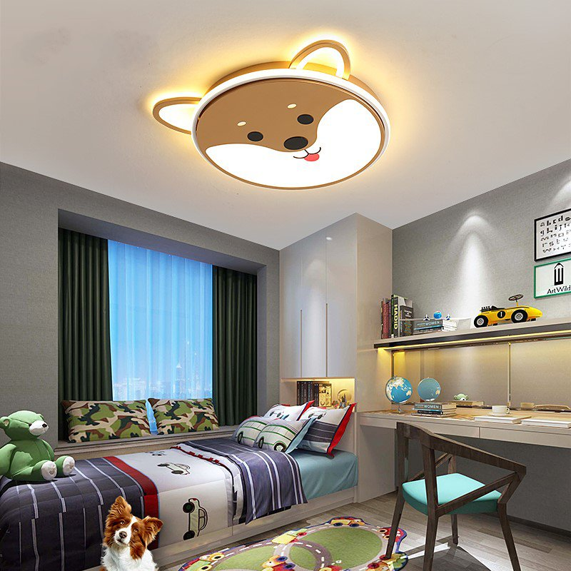 Acrylic,Tieyi Children's Room Spray Painting And Frosting Children/ Cartoon Ceiling Lamp