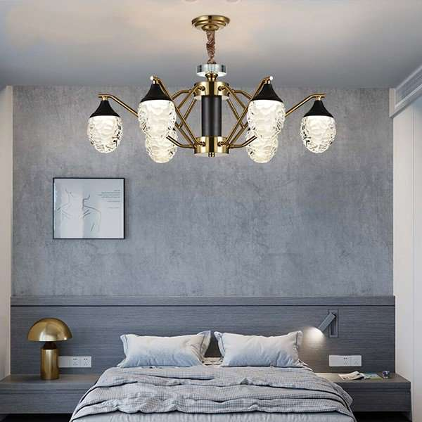 Iron Art,Glass Living Room,Study/ Bedroom,Restaurant Electroplating In Northern Europe\ IKEA Chandelier,6 Lights