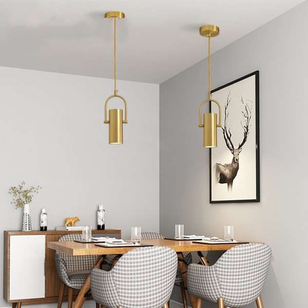 Copper Study Room/ Bedroom,Restaurant Dyed Light Luxury Chandelier,1 Lights