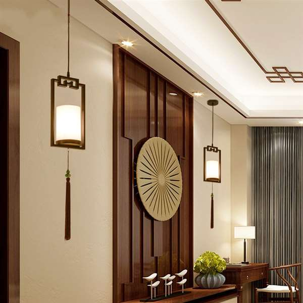 Iron Art,Cloth Art,Resin Living Room,Corridor/ Aisle/ European Forged New Chinese Wall Lamp,1 Lights
