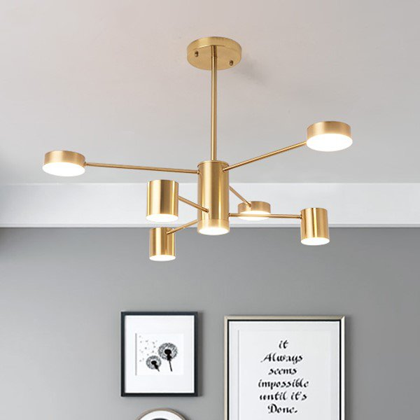 Iron Living Room,Other,Study/ Bedroom Electroplated Postmodern Chandelier,6 Lights