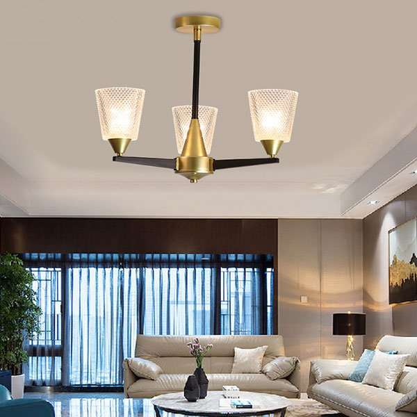 Iron Art,Glass Living Room,Study/ Bedroom,Restaurant American Simple Chandelier,3 Lights
