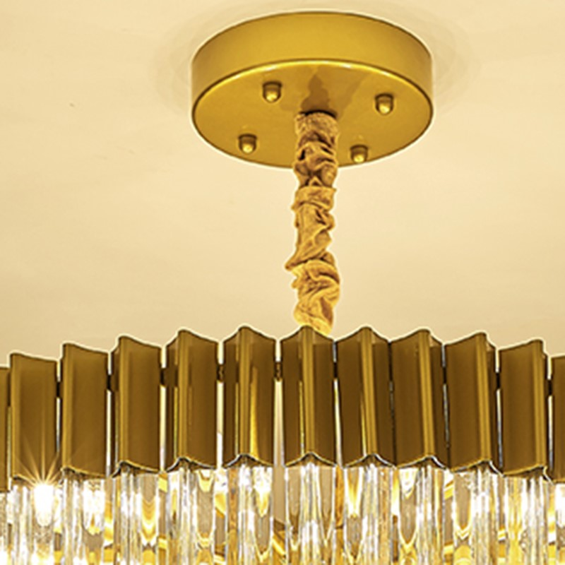 Iron Art,Glass Living Room,Restaurant,Villa/ Light And Luxurious Chandeliers In The Lobby Of The Hotel,6 Lights