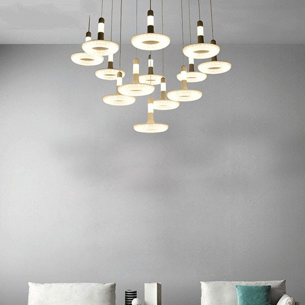 Iron Art,Aluminum,Acrylic Study Room/ Bedroom,Living Room Spray Paint Frosted Modern Simple Chandelier,13 Lights